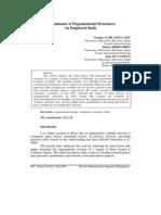 Determinants of Organisational Structures an Empirical Study