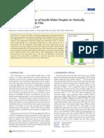 enhanced evaporation of sessile water droplet on silver nanorod arrays