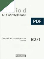Studio d B2-1 Kurs- Und Uebungsbuch Teilband 1 Losungen
