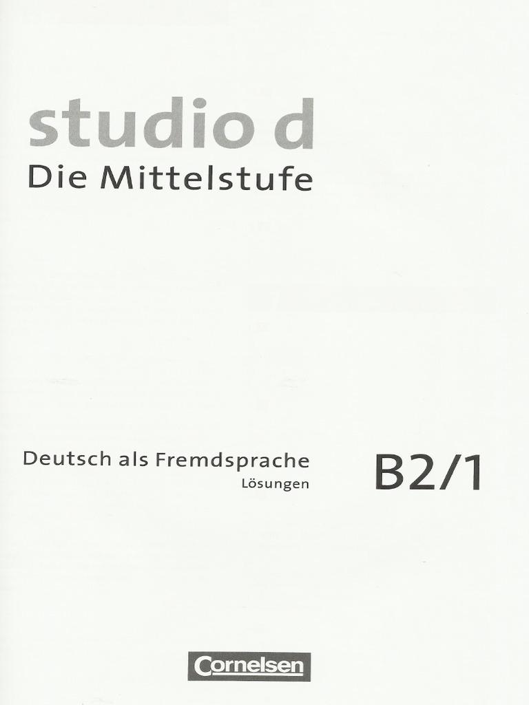 studio d b21 kurs und uebungsbuch teilband 1 losungen