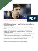 Manchester City Goda Messi
