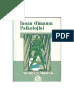 Abraham Maslow - İnsan Olmanın Psikolojisi