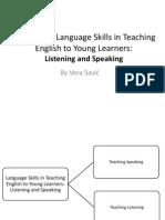 Mind maps on listening and speaking skills