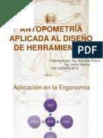 6 ANTROPOMETRÍA Y DISEÑO ERGONÓMICO DE HERRAMIENTAS, MAQUINARIAS E INSTALACIONES