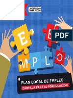 Cartilla Plan Local de Empleo