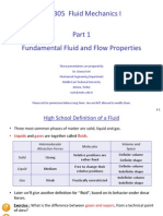 ME 305 Part 1 Fundamental Fluid and Flow Properties