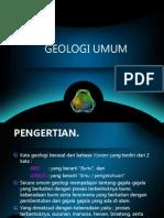 GEOLOGI UMUM
