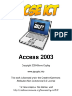 Access 2003 for IGCSE ICT
