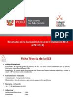 Evaluación Censal - UMC-ECE2013