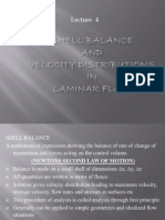 Shell Balance and Velocity Distributions in Laminar Flow