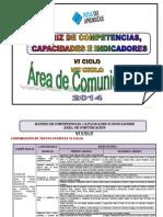 Matriz Competencias Capacidades Indicadores 2014