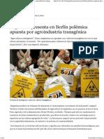 Argentina presenta en Berlín polémica apuesta por agroindustria transgénica _ América Latina _ DW.DE _ 20.01.2014