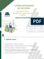 SIG Guía de Respuesta Rápida CMPC Papeles Cordillera.