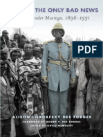 Alison Des Forges, David Newbury, Roger Des Forges Defeat is the Only Bad News Rwanda Under Musinga, 1896-1931 2011