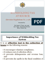 Lecture Witholding Tax