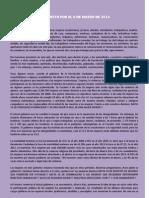 Manifiesto 8 de Marzo 2014