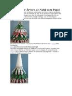 Como Fazer Árvore de Natal com Papel