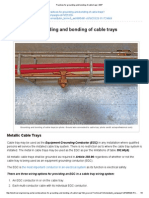 Practices for Grounding and Bonding of Cable Trays _ EEP
