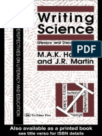 Halliday & Martin - Writing Science_critical Perspectives on Literacy and Education