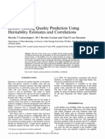 Biscuit-Making Quality Prediction Using Heritability Estimates and Correlations