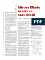 Mircea Eliade in Arhiva Securitatii