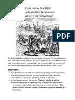 wh1 motivations for exploration dbq 1 12 2012