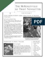 Winter 2012 McKinleyville Land Trust Newsletter