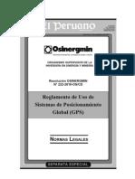 Rcd 222-Os-CD - Reglamento Del Uso Del Gps