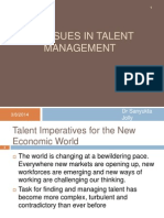 Issues in Talent Management