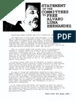 Alberto Gonzales Files - freealvaro org-committee%20statement