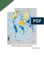 Distribuição das precipitações Mundo