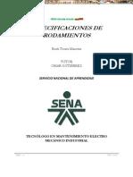 Manual Especificaciones Tipos Rodamientos