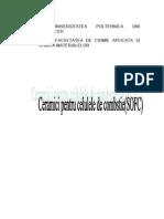 ceramici pentru celule de combustie SOFC