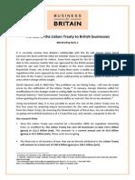 Cost Lisbon Treaty British Business r