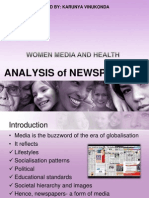 Women, Media And Health