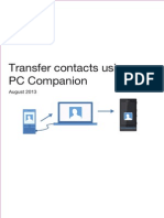 Transfer Contacts Using PC Companion In