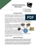 Materiales Petreos y Metálicos