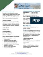 Silver Lake Neighborhood Council Homelessness Flyer