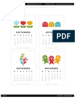 Printable 2014 Calendar Page Four DESIGNISYAY