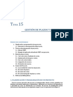 Tema 15. Gestion de Plazos y Costes