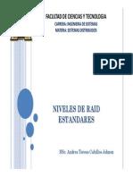 1.2 Niveles de RAID Estandares