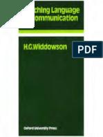 Teaching Language as Communicationhg Widdowson