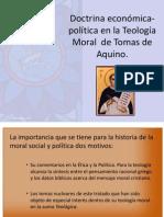 Doctrina económica-política en la Teología Moral  de Tomas