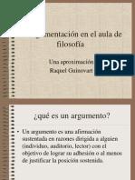 R. Guinovart, Argumentación