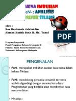 Fungsi Makna Imbuhan PeN- Analisis Rangka Rujuk Silang