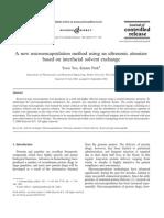 A New Microencapsulation Method Using an Ultrasonic Atomizer
