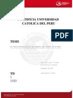 La Constitucionalizacion Del Derecho Del Trabajo en El Peru