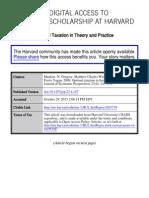 Mankiw_OptimalTaxationTheory