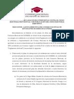 Comisión Electoral - Resolución reclamaciones censo CONEDE