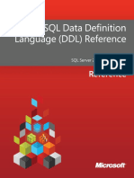 Transact-SQL Data Definition Language - DDL- Reference (1)